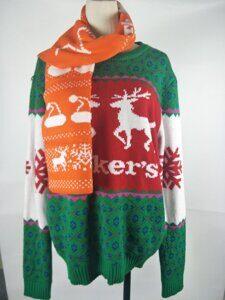 свитер с логотипом акрил